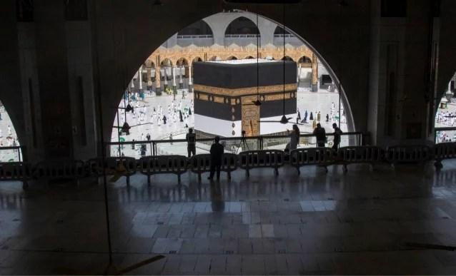 Foto: Suasana Masjidil Haram Makkah Jelang Ibadah Haji 2021