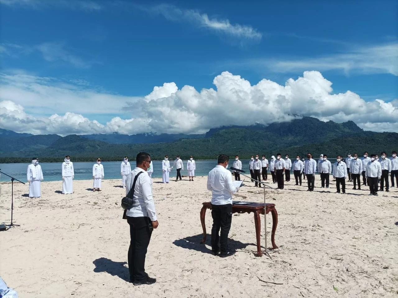 Boltim Bersinar di Pulau Nanas, Bupati Sam Sachrul Mamonto Lantik Jabatan Eselon II,III,IV