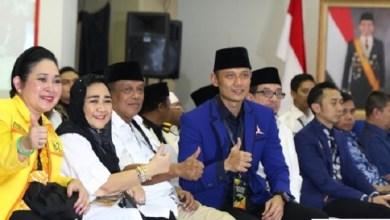 Photo of Ke KPU, Prabowo Diantar Putri Presiden Pertama, Putri Presiden Kedua dan Dua Putra Presiden Keenam