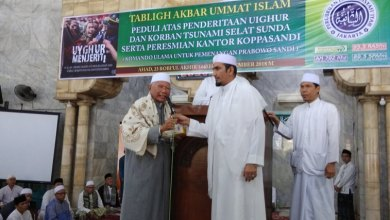 Photo of Jemaah Masjid Al Barkah Serahkan Bantuan untuk Muslim Uighur dan Korban Bencana Melalui FPI