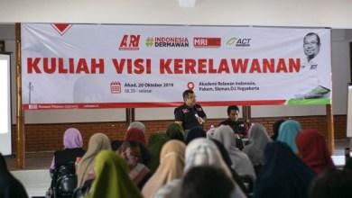 Photo of 80 Relawan Ikuti Kuliah Visi Kerelawanan di Sleman