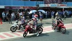 Pebalap Yamaha test ride All New Jupiter Z1 - SuaraJakarta.com