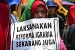 Aksi Demo Peringati Hari Tani Nasional di Istana Negara Jakarta (24/9). (Foto: Fajrul Islam/SJ)