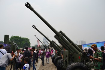 Beberapa Tank Meriam yang digunakan oleh satuan Armed TNI AD sejak tahun 1982. (Foto: Fajrul Islam/SuaraJakarta)