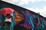 Live graffiti pada Festival Jerin 2013 di Senayan, Jakarta. (Foto: Fajrul Islam/SuaraJakarta)