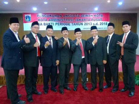 Pengukuhan Ardy Purnawan Sani, Anggota Dewan Kota Jakarta Pusat, periode 2013 - 2018