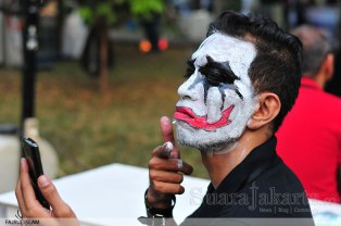 Pesta Kostum Horor di Jakarta Halloween Festival 2014 di Taman Krida Loka, Senayan, Jakarta. (Foto: Fajrul Islam/Suarajakarta)