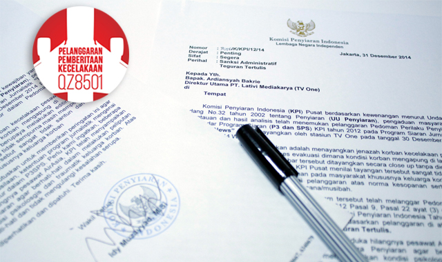 suara jakarta Liputan Evakuasi Korban Air Asia KPI Jatuhkan Sanksi Pada TV One