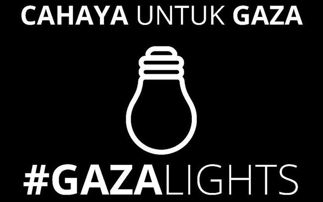 suara jakarta banner solidaritas gaza palestina