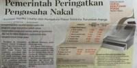 Headline Harian Nasional 21 Januari 2015, Pemerintah peringatkan Pengusaha Nakal