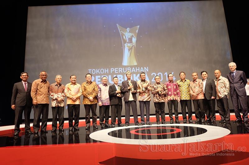 Tokoh Muda ODOJ bersanding menjadi Tokoh Perubahan Republika 2014. (Foto: Dudi Iskandar/SuaraJakarta)