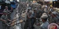 Ratusan PKL Kapok Berdagang Sembarangan di Jakarta Pusat