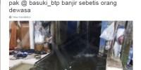 Banjir Dimana-Mana Malam Ini, Ahok Masih Klaim Jakarta Tidak Banjir?