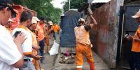 Sosialisasikan 5 Tertib Gubernur DKI, Camat Kemayoran Adakan Kerja Bakti Massal