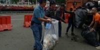 44 Ton Sampah Usai Parade Indonesia Kita