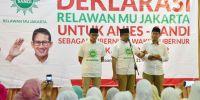 Relawan Muhammadiyah Dukung Anies-Sandi
