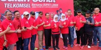 Gelaran Acara Jalan Sehat Telkomsel di Kabupaten Lebak