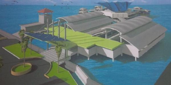 Desain Resto Apung Muara Angke Yang Baru Dimulai Pembangunannya Akan Menyerupai Ikan Pari