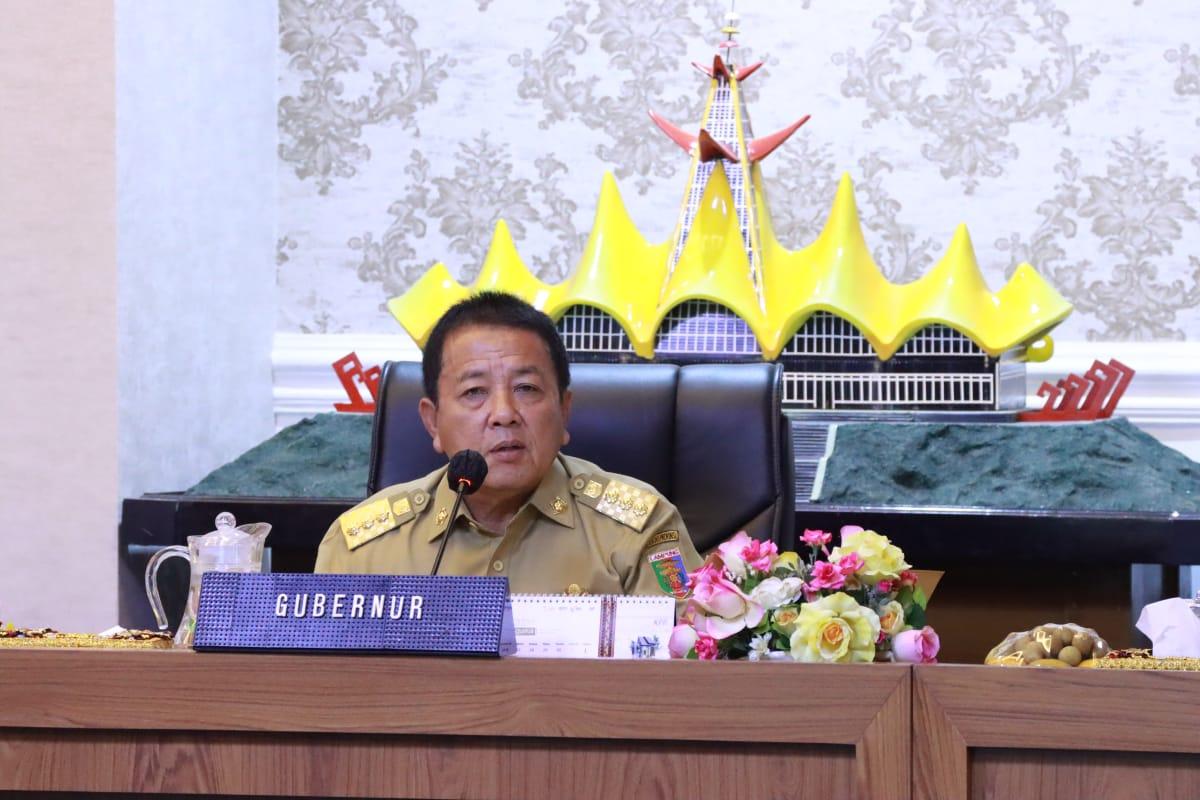 Gubernur Lampung Gelar Rapat Koordinasi Mengatasi Covid-19 Pada Pilkada Serentak 2020