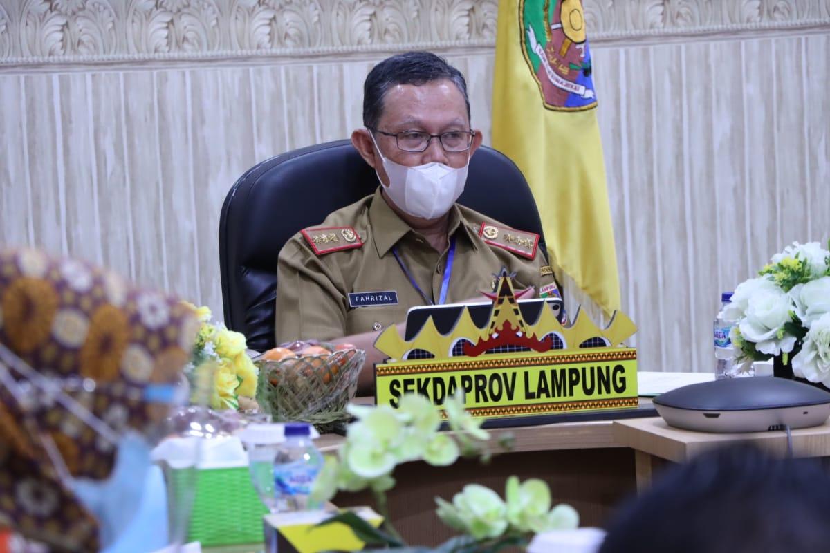 Sekretaris Daerah Provinsi Lampung, Fahrizal Darminto, Pimpin Rapat Pembahasan Implementasi Program TPKAD