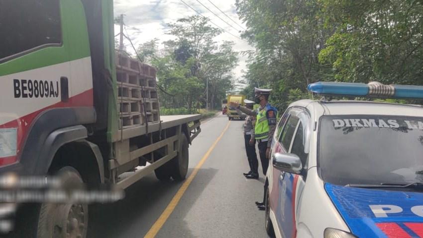 Unit Turjawali Satlantas Polres Way Kanan Lakukan Patroli di Jalinsum Way Kanan