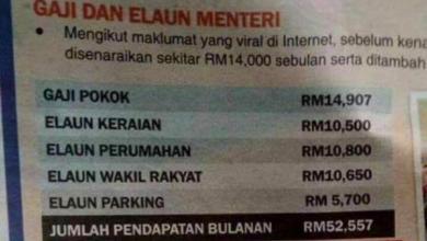 Photo of Elaun parkir menteri RM5,700 sebulan tak betul – Saifuddin