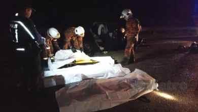 Photo of 3 maut, 2 parah kemalangan maut kereta-treler di Jalan Kuala Jeneris