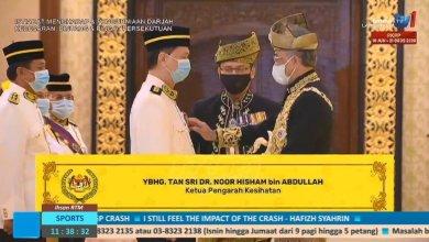 Photo of Dr. Noor Hisham dianugerah gelaran Tan Sri