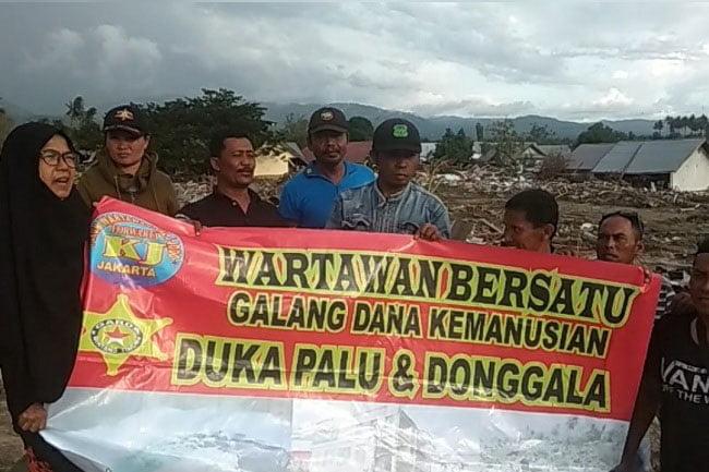 Fowarta Kalijodo Berikan Bantuan Korban Gempa Palu