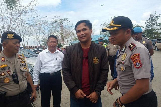 Anggota Polres Muna Jemput Kedatangan Dua Kapolres Muna