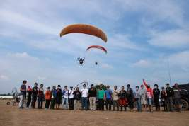 Launching Lapangan JGC, Paramotor Akan Jadi Tren Baru Milenial
