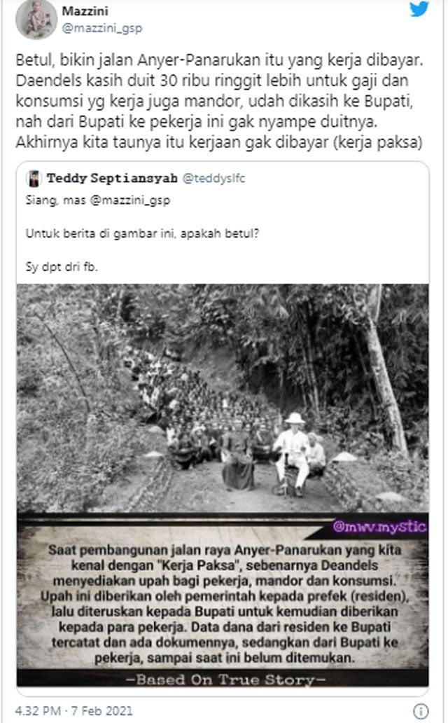 Jalan Anyer-Panarukan, Kerja Paksa Deandels Atau Dikorupsi?