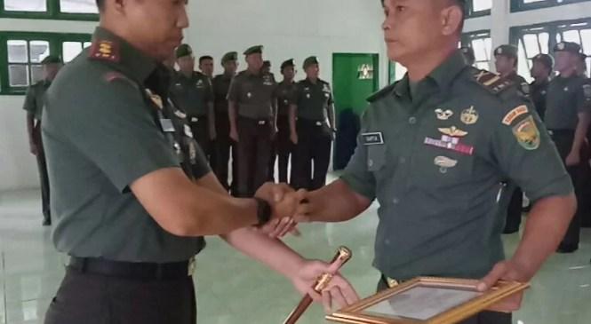 Dandim 0420/Sarko Letkol Inf Tomy Radya Diansyah Lubis Pimpin Upacara Korp Raport Pindah Satuan Perwira