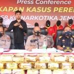 Satresnarkoba Polresta Barelang dan Bea Cukai Kepri Amankan 107,258 Kg Sabu