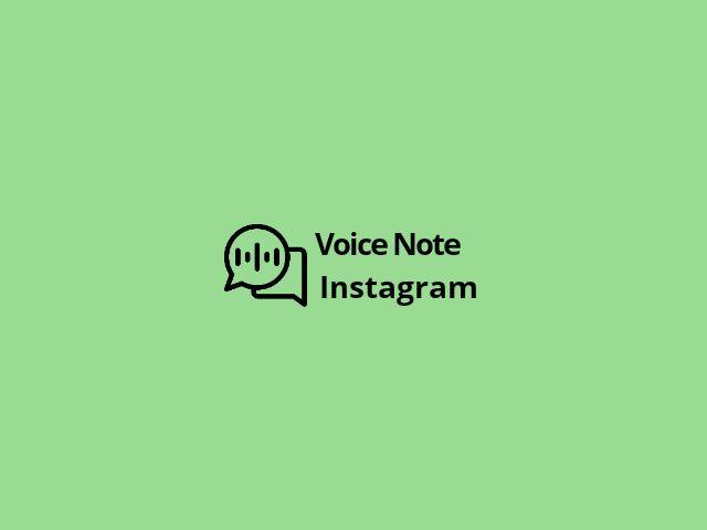 Cara mengirim pesan suara instagram