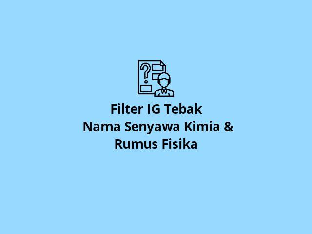 Filter Senyawa Kimia dan Rumus Fisika