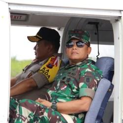 Gubernur, Pangdam, Kapolda dan Danrem Pantau Titik Api