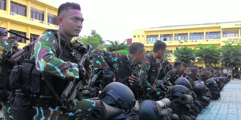 Ratusan Anggota Brimob Polda Kalsel BKO di Papua