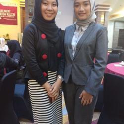 CJ Saputri dan Putri Ristin Juara I Presenter Mahasiswa dan Pelajar