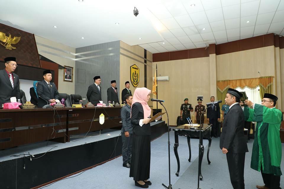 Ikhsan Wardani PAW Anggota DPRD Banjarmasin Dilantik