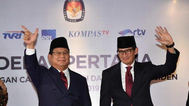 Saat Prabowo Sela Pertanyaan Jokowi, Joget Kecil Lalu Dipijit Sandi
