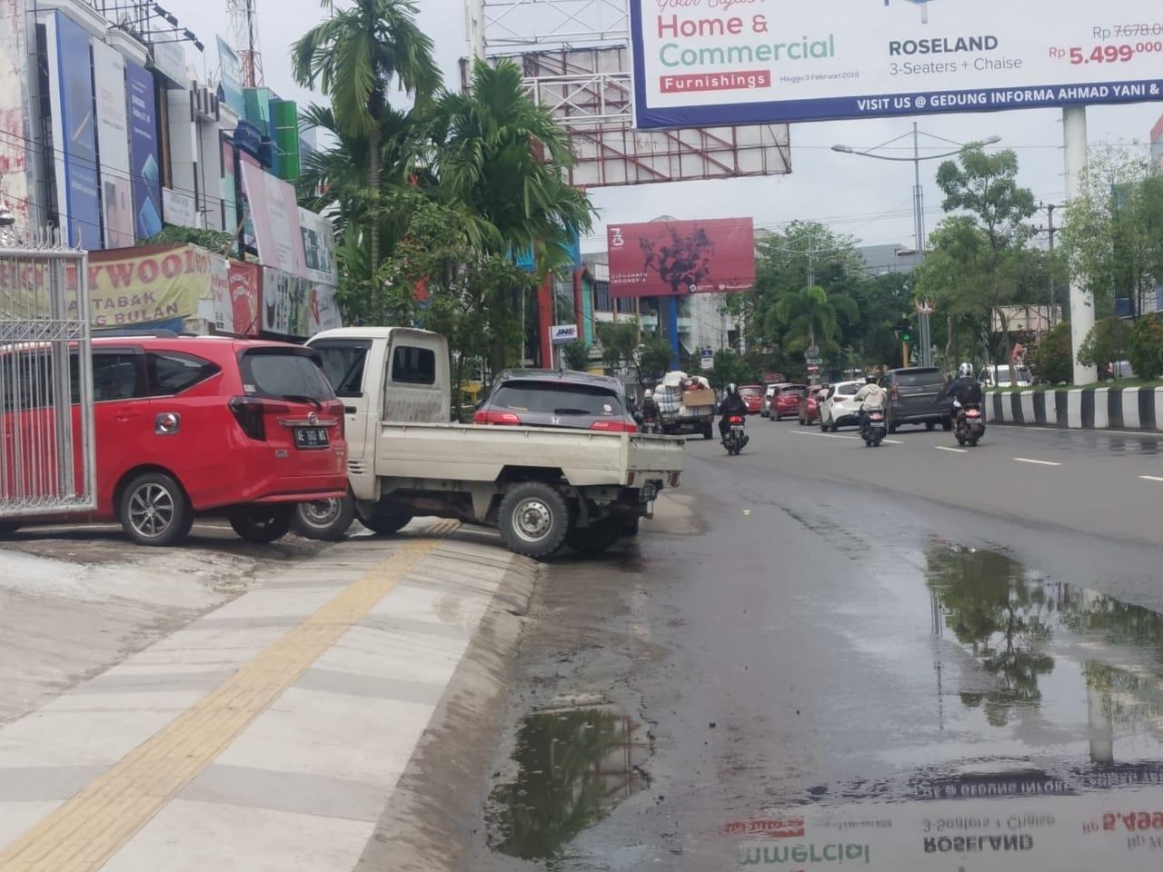 Trotoar Jalan A Yani akan Dipagar, Kerap Jadi Parkiran