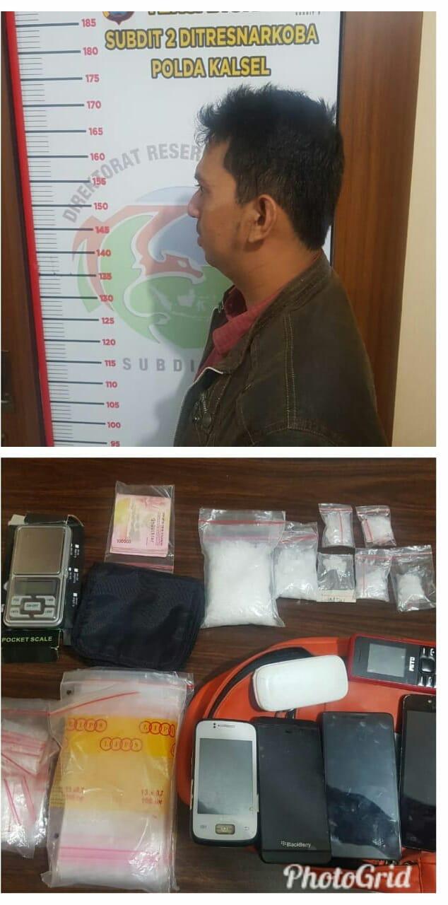 Penggeledahan, Polisi Temukan Tas di Atas Kasur Berisi 10 Paket Sabu