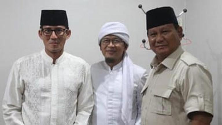 Dukung Prabowo-Sandi, Aa Gym: Bismillah Saya Milih 02