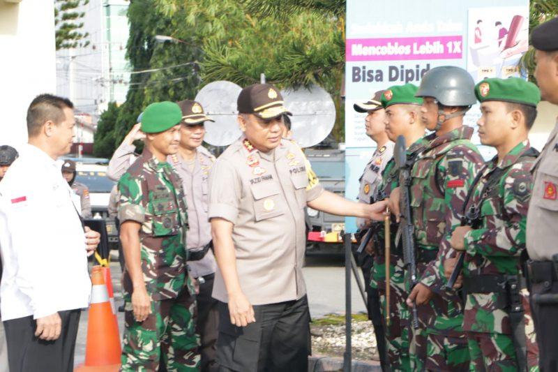 Kapolda Kalsel Peringatkan Personil PAM Tidak Boleh Memasuki TPS