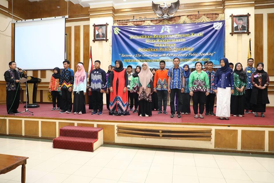 Pengurus Forum Anak Banjarmasin Dilantik