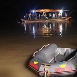 KECELAKAAN Perahu Paspampres di Sungai Sebangau Kalteng