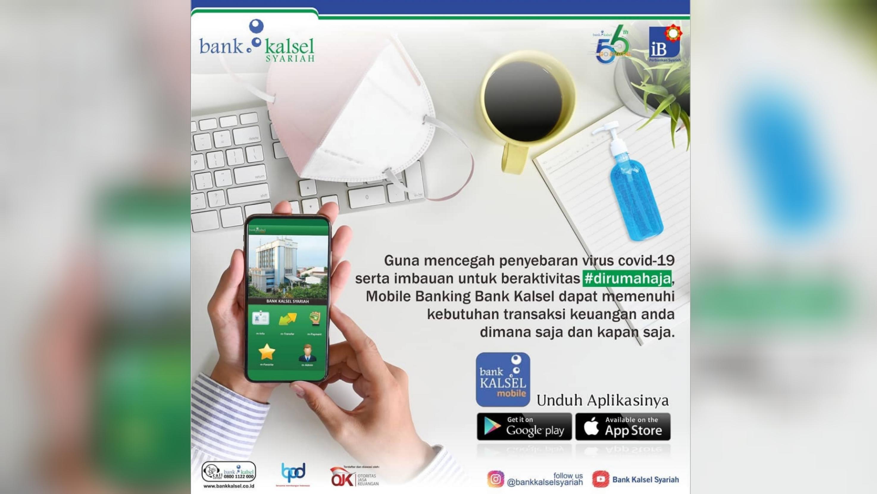 LEBIH AMAN dan Mudah Dipastikan Bank Kalsel Bertransaksi dengan Mobile Banking