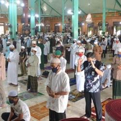 SHALAT Jumat di Sejumlah Masjid di Banjarmasin Berlaku Protokol Kesehatan