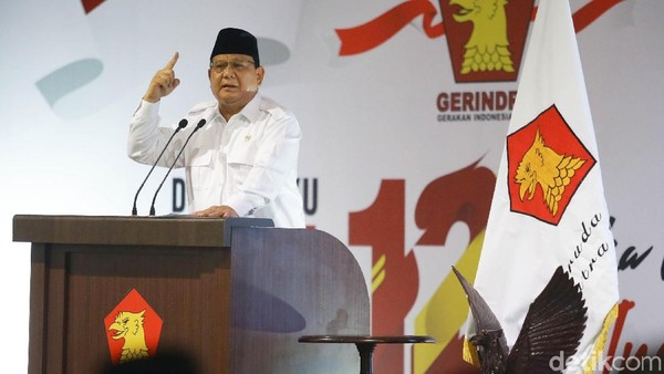 PIMPIN GERINDRA Lagi, Prabowo Terharu di KLB